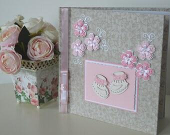 Baby girl album, Baby girl photo album, Baby girl photo book, Baby shower gift, Newborn album, Baby first photos, Girl christening gift