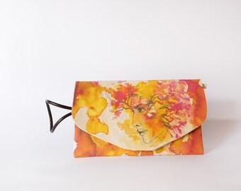 Illustrated bag Jara - envelope bag