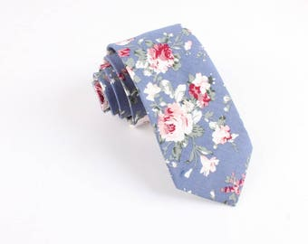 "Floral Skinny Tie 2.36""   -  floral ties, Floral skinny ties, prom, wedding , gift, Vintage, retro, gifts for him, anniversary, Groom"