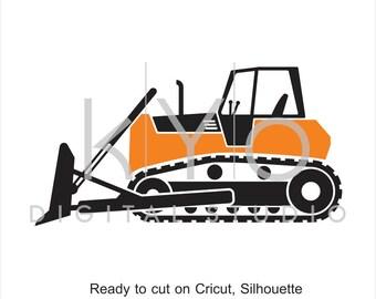 Construction SVG, Transportation SVG, Digger svg, Bulldozer SVG, Transport svg, tractor svg, svg cut files for Cricut and Silhouette