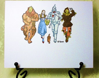 Wizard of Oz Card: Add a Greeting or Leave Blank