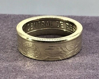 1981 Peru 50 Soles de Oro Ring by - Coin Ring Memories