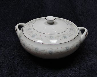 Fine China of Japan English Garden 1221 Casserole Vegetable Serving Bowl with Lid EXCELLENT!