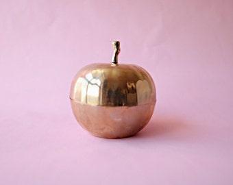 Vintage Brass Apple Catch-All Dish
