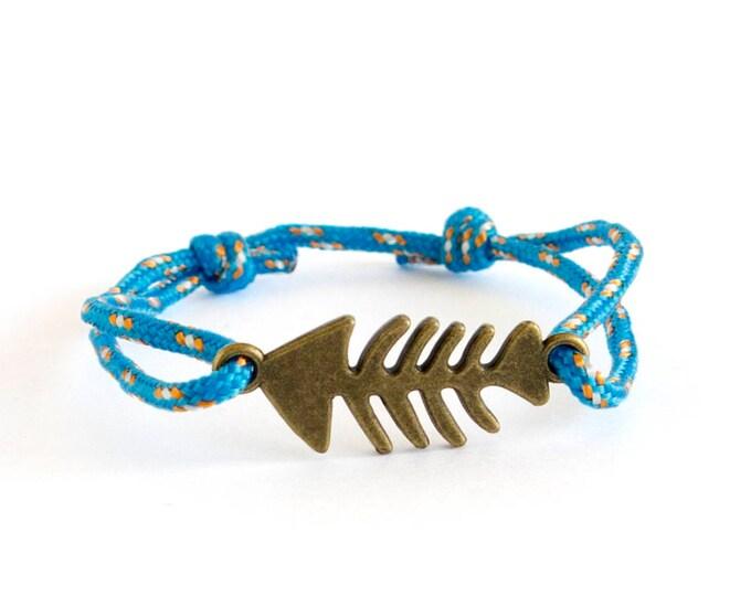 Fish Bracelet, Fish Jewelry Men, Fish Friendship Bracelet, Fisherman Gift Ideas