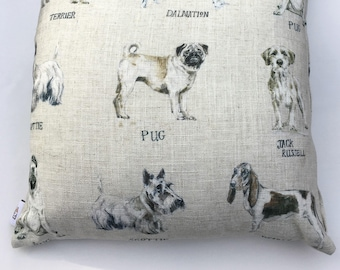 Linen Dog Name Cushion Covers