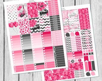Love Bug Planner Sticker Happy Planner Printable / Happy Planner Stickers / Printable Planner Stickers / Valentines Planner Stickers