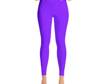 Violet Leggings - High Waisted Workout Pants, Bright Colored Leggings for Yoga