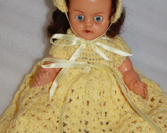 Vintage doll 30 cm vintage Pedigree doll Pedigree doll with hand knitted clothes old Pedigree doll baby doll Pedigree doll