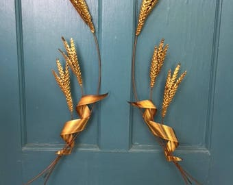 Mid Century Wheat Wall Sculpture