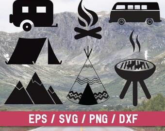 Camping svg file, Camping cut file,Camping,Camp svg,Camper svg file,Vacation svg,Camping digital,Travel trailer svg,Camping trailer,Tent svg