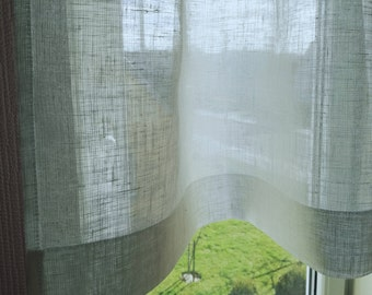 white linen cafe curtain sheer linen curtain bathroom window curtain kitchen panel
