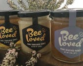 BeeLoved - Set of 3 - 226g/ 8oz- Pure Heather, Summer and Spring Honey - Raw straight from the hive