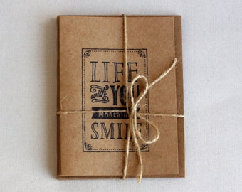 Life With You Makes Me Smile Card // Blank Card // 5'' by 7''