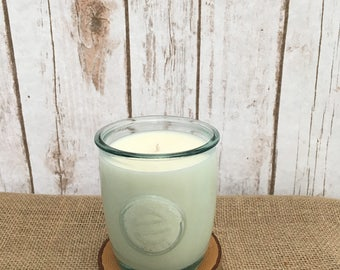 Recycled Glass Soy Candle - Zen-Berry