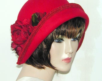 Miss Fisher Custom Convertible 6 in 1 cloche - Downton Abbey hat, Great Gatsby hat