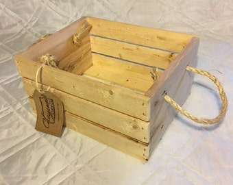 Rustic Wooden Crate (8x10) Gift Box or Basket Crate