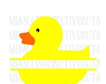 Duck split letter  SVG   cut file  t-shirts  animals Easter t shirtscrapbook vinyl decal wood sign cricut cameo Commercial use