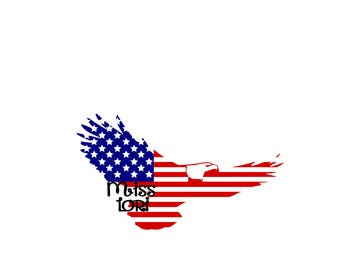 Eagle Americaa Flag   SVG Cut file  Cricut explore file 4th of July t shirt decalscrapbook vinyl decal wood sign t shirt cricut cameo