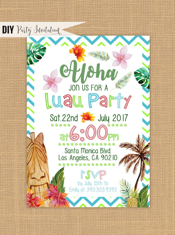 Satisfactory image inside hawaiian party invitations free printable