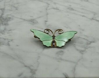 Classic David Andersen Sterling Silver Butterfly Brooch