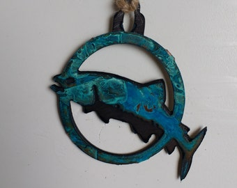 Patina Trout Ornament