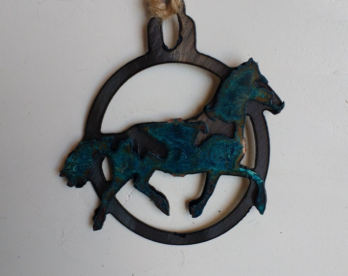 Patina Horse Ornament