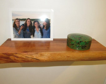 Live Edge Floating Shelf in Cherry, Maple, or Walnut, Various Dimensions Available
