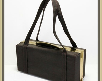 Vintage Ingber Box Purse,Vintage Box Purse,Vintage Ingber Handbag,Vintage Handbag,Vintage Ingber Evening Bag,Vintage Evening Bag,Box Purse