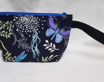 Dragonflies Quilted Wristlet