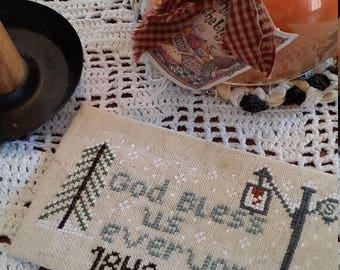 Pattern, Charles Dickens God Bless us everyone,  1843 Christmas Carol, pattern, Cross stitch pattern, Download,1843 Dickens Pattern