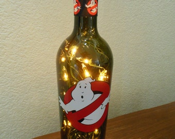 Ghost Busters Wine Bottle Light (white lights) Halloween, Halloween Lights, Halloween Party, Night Light, No Ghosts