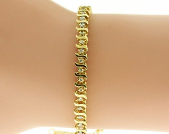 Diamond Bracelet - 14K gold tennis bracelet (0.32 ct. tw)