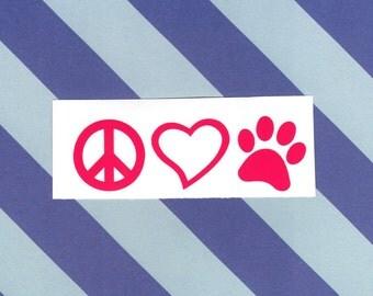 Peace Love & Paws, Yeti Decal, DIY Iron On