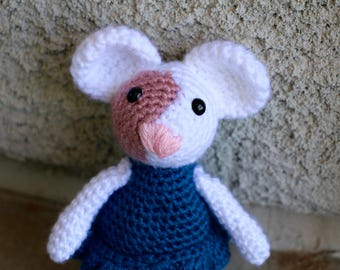 Mouse with port wine stain stuffed animal toy