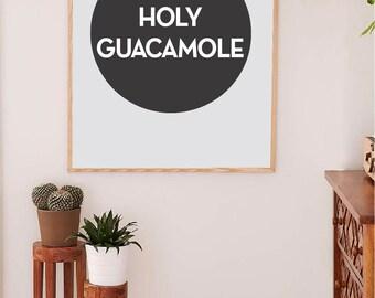 Printable Wall Art Prints, Printable Quotes, Dorm Decor, Dorm Art, Urban Outfitters, Digital Print, Digital Download, Holy Guacamole