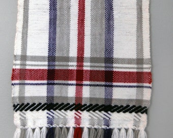 Red & Purple Twill Plaid Wall Hanging - Small - Light and Airy