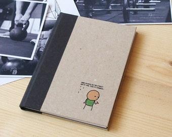 Fitness planner | Exercise planner | Fitness journal | Workout planner | Workout journal | Gym planner | Crossfit journal | A6 | Kraft cover