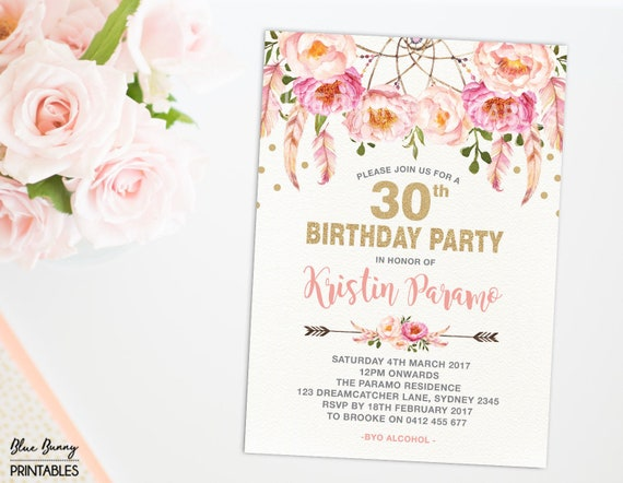 Etsy 60Th Birthday Invitations – Birthday Invitations Sydney