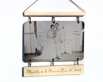 Photo on leather custom engraved leather photo leather picture frames personalized leather frames for pictures print on leather pennant gift