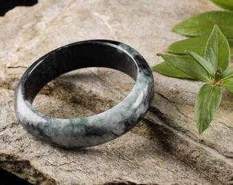 6.3cm JADE Bangle Bracelet from Burma - Jadeite Bangle - Jade Jewelry Stone Bracelet 27983