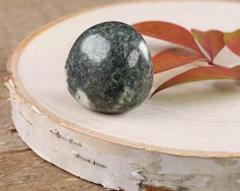 One Rare PRESELI BLUESTONE Tumbled Stone - Stonehenge Creation, Stonehenge Bluestone, Spotted Dolerite, Healing Crystal, Healing Stone E0359