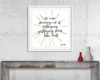 Rumi Quote Interesting Rumi Quote Art  Etsy