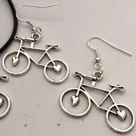 Cyclist Gifts, Bicycle Earrings, Cycling Jewelry, Fitness Jewelry, Cycling Earrings, Road Bike Earrings, Biker Chick Jewelry, Fitness Gifts