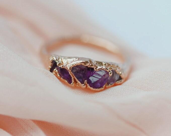 Rose Gold Amethyst Ring // February Birthstone