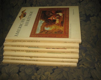 Set of Six American Heritage Hardcovers