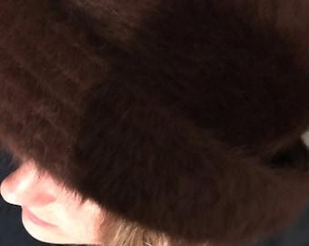 Damart Fur Hat. Hat. Brazil Colour Fur Hat.
