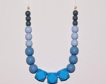 Silicone Teething necklace, Style Frankie. Baby shower gift, Mum Jewellery, Nursing necklace