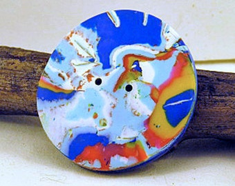 Buttons. Round randomly patterned large buttons. Satellite Earth designed buttons. Sold individually.