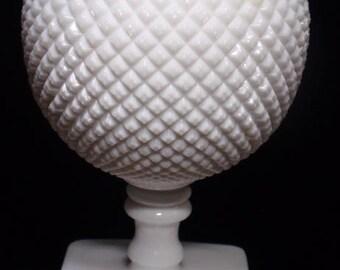Rare Milk Glass Circular Vase